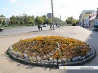 """Клумба возле остановки """"Агрегатный завод"""""""