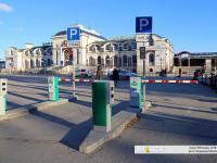 Платная автомобильная парковка перед ж/д вокзалом
