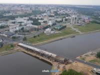 Вид на строительство Московского моста