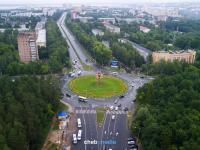 Автомобильное кольцо и вид на Московский проспект, 2018 год