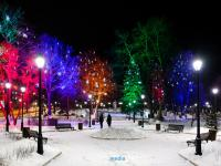 Сквер Константина Иванова на Новый год