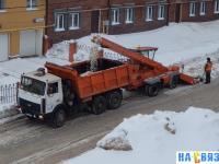 Чистка снега на улице Сверчкова
