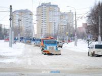 Уборка снега на улице Университетская