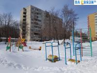 Детская площадка зимой (во дворе дома Эгерский бульвар 57)