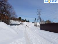 Дорожка к улице Святослава Федорова зимой