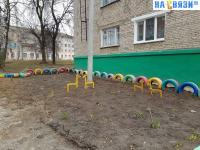 Площадка ЖКХ-Арт в торце дома