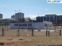 Строение на территории школы