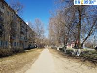 Пешеходная дорожка вдоль улицы Гражданская