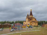 Вид на строящийся храм