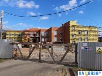 Стройка - детский сад в Сосновке
