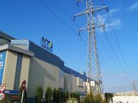 Линия электропередач у МТВ-Центра