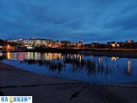 Очистной пруд вечером