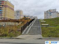 Лестница со скамейками