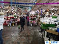 Цветочный ряд на Центральном рынке