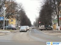 Вид на улицу Петрова с улицы Гагарина
