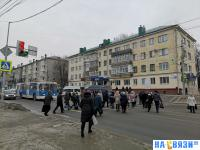 Пешеходный переход на улице Гагарина