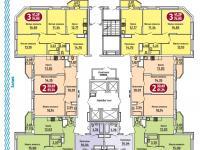 Планировка этажа в доме ул. Энергетиков 19к1