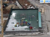 Вид на детскую и спортивную площадку сверху