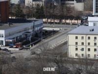 Вид сверху на улицу Логинова