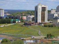 Вид на новый Дом правительства и центр города