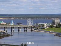 Вид на Московский мост и Волгу
