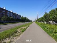 Пешеходная дорожка вдоль улицы Николаева