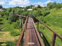 Пешеходный мост из Альгешево в Южный