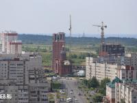 Вид на строительство церкви в микрорайоне Никольский