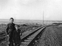 Узкоколейка из кирпичного завода в карьер, 1959 год