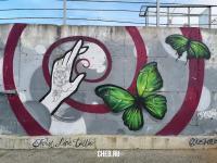 Граффити бабочка рука