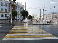 Мокрый пешеходный переход