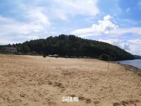 Панорама пляжа в Солнечном береге