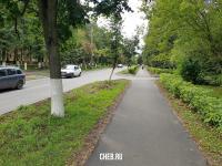 Пешеходная дорожка на улице Комсомольской