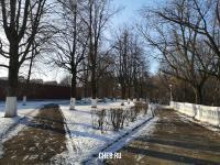 Аллея влюбленных зимой