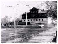Поворот с ул.Союзная на ул.Театральная. 1978
