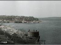 Вид на берег Волги с восточного косогора, 1985 год