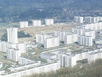 Вид сверху на Юго-Западный район, 1990 год