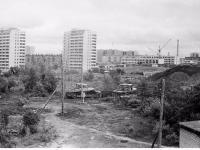 Трактора работают в районе улиц Гагарина и Цивильская, Конец 1970-х