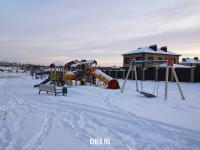 Детская площадка Тихой Слободы зимой