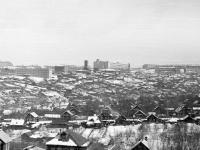 Вид на Кнутиху и Калининский район с ЧГСХИ, 1970-е годы