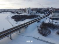 Начало Московского проспекта - Вид сверху зимой
