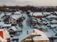 Вид на улицу Ушакова зимой