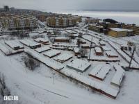 Вид сверху на гаражи по улице Соколова