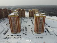 Вид сверху на жилой комплекс по улице Миначева