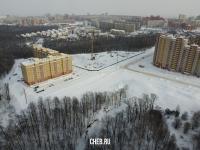 Вид сверху на микрорайон Университет-2 зимой
