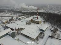 Вид сверху на завод Контур