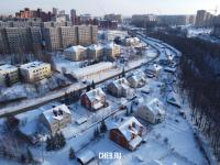 Вид сверху на улицу Ромашковая