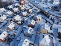 Вид сверху на улицу Сиреневая