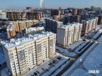 Вид сверху на район улицы Ярмарочная
