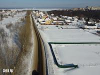 Вид сверху на улицу Заовражная